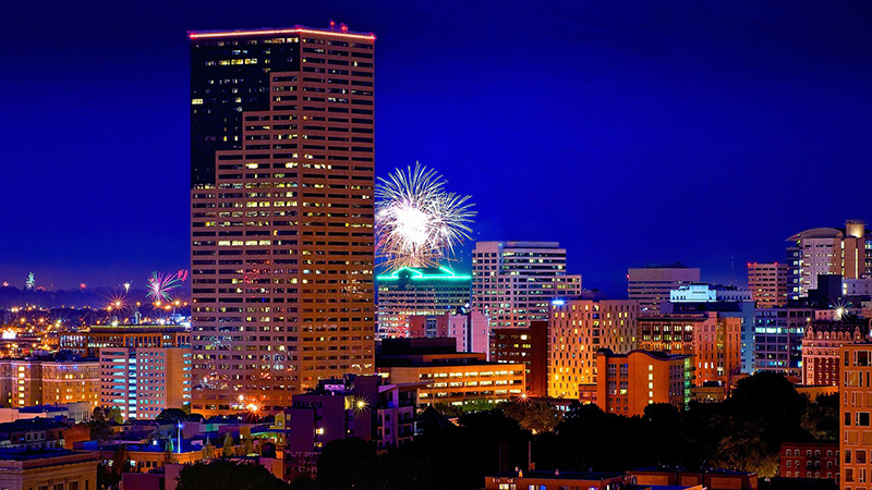 Fireworks in Downtown Portland Oregon